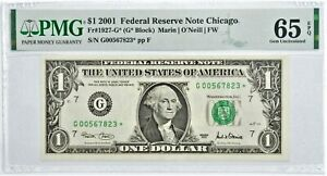 $1 2001 STAR NOTE - PMG Graded 65EPQ  FR1927-G* FRN - Error Replacement *823
