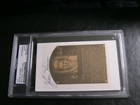 Jesse Haines Autographed HOF Cut PSA Certified Encapsulated