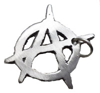 Anarchy Punk Pin Badge - Hand Made in English Pewter