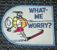 RARE WHAT ME WORRY? (SKIING) PATCH