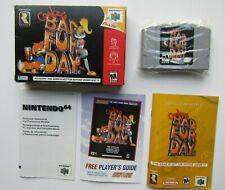 Conker's Bad Fur Day Nintendo 64 N64 Complete In Box CIB OEM Rare Video Game #1