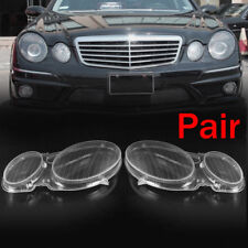 Pair Headlight Clear Lenses Lampshade Cover For MERCEDES E CLASS W211 E320 E350