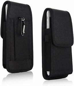 Universal Black Nylon Holster Belt Hook Pouch Case Cover For All Mobile Phones