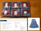 6 Rubbermaid Commercial D25306 Super Stitch Mop Head Large Looped Blue Blend