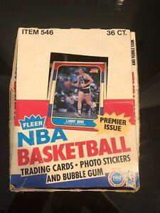 1986-87 Fleer Basketball Box & 4 Empty Wax Pack Wrappers Jordan Rookie Card