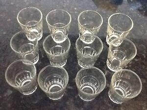24 New Shot Glasses Glass Barware Shots Whiskey Tequila Vodka Rum drink 2 doz zz