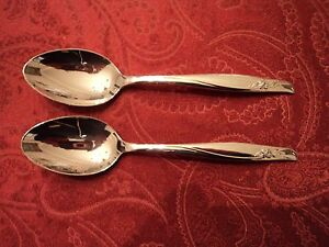 "2-Gorham SEA ROSE  Sterling Teaspoons 6"" No Monogram"