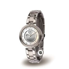 Edmonton Oilers NHL Charm Watch with Stainless Steel Band