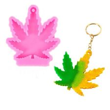 Maple Leaf Pendant Epoxy Resin DIY Keychain Silicone Mold Weed Making Mould Tool