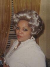 VINTAGE MID CENTURY MOD AFRICAN AMERICAN BEAUTY SILVER FOX WIG DISCO ERA PHOTO