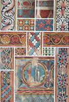 CHURCH PAINTINGS 13th C at Agen Saint Emilion France - 1888 COLOR Litho Print