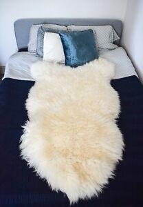 Sheepskin Rug Large Genuine White Thick Wool Very Soft 100% Natural