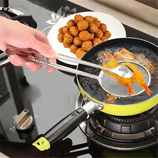 Kitchen Multi-function Strainers Clamp Stainless Steel Fried Food Clip Sifter
