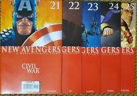 NEW AVENGERS (VOL 1) 21 22 23 24 25 complete Civil War Tie in NM Marvel Comics
