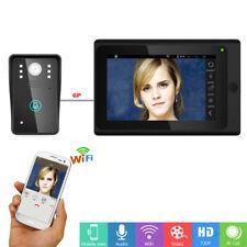 """7""""Wired / Wireless Wifi IP Video Door Phone Doorbell Intercom Support Remote APP"""