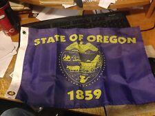 "New listing Oregon- State Flag 12"" x 18"" Nylon Flag Made In Usa"