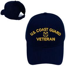 USCG VETERAN COAST GUARD VETERAN MILITARY BASEBALL CAP HAT 394ac0435079