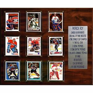 "NHL 15""x18"" Patrick Roy Montreal Canadiens Career Stat Plaque"
