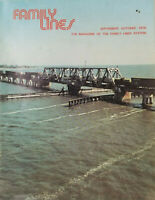 Family Lines Sept - Oct 1976 Vtg Employee Railroad Train Magazine Miss Alabama