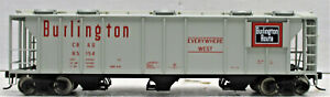 WALTHERS 932-7977 S-2 2893 Cu Ft COVERED HOPPER CB&Q #85154 HO SCALE