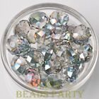 New 5pcs 16X12mm Big Crystal Glass Rondelle Faceted Loose Beads Rose Green