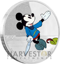 DISNEY MICKEY THROUGH THE AGES - BRAVE LITTLE TAILOR - 1 OZ. SILVER COIN - 2ND