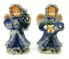 "Vintage 2000 Cornerstone Creations 5"" Christmas Angels Set of 2 Guc"