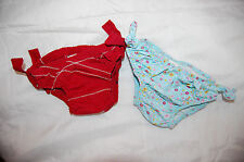 """LOT 2 culotte FLOTS Maillot de bain bébé fille """"IKKS"""" Rouge + 1 Fleurie 12 /24 M"""