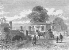 BERMONDSEY. Bridge and turnpike in the Grange Road, about 1820. London c1880