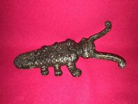 Vintage Antique Cast Iron Beetle Boot Jack Great Colors Victorian Ca. 1890
