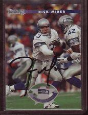Rick Mirer AUTOGRAPH Seattle Seahawks 1996 Donruss #95 Football AUTO Notre Dame
