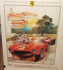 CELEBRATING THE FERRARI MEADOW BROOK V HISTORIC RACES CLARKSTON MICHIGAN POSTER