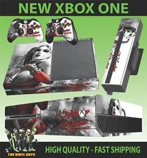 XBOX ONE CONSOLE STICKER HARLEY QUINN ARKHAM BATMAN SKIN & 2 PAD SKINS