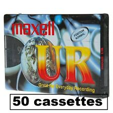 50 K7 CASSETTES AUDIO VIERGE 90 MN  MAXELL