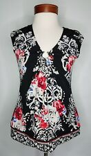 White House Black Market Womens Shirt  Size Small Top Ruched Gathered Ring Neck
