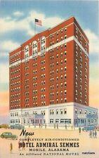 1940s Mobile Alabama Hotel Admiral Semmes Teich postcard Flag 5279