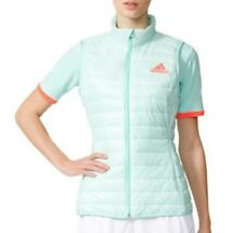 Adidas Premium Climaheat Active Padded Tennis Vest Women's Small AP4821 Green