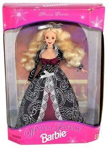 1996 Winter Fantasy Barbie Blonde Doll Dark Dress Special Edition