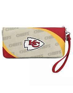 Kansas City Chiefs NFL Women's Curve Zip Organizer Wallet / Purse Football Team