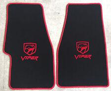 Autoteppich Fußmatten Chrysler Dodge Viper RT10 GTS schwarz rot Velours Neu 2tlg