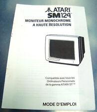 livret atari sm124 - moniteur monochrome a haute resolution