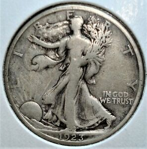 1923-S Silver Liberty Walking Half Dollar, Better Date