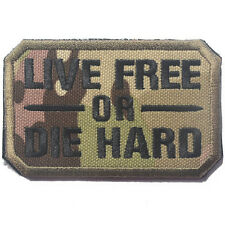 LIVE FREE OR DIE HARD USA ARMY U.S. TACTICAL BADGE MILITARY EMBROIDERY PATCH #04