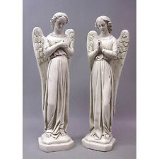 """PAIR OF STANDING ANGELS 21"""" - (RELIGIOUS CHURCH STATUARY )"""