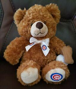 """Build A Bear Brown Teddy Plush Chicago Cubs Baseball 12"""" Plush 2012"""