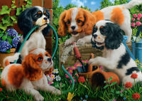 500 Pieces Jigsaw Puzzle Puppies/Dogs In Garden - Brand New & Sealed