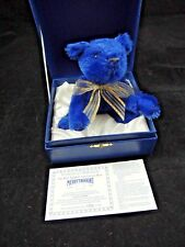 Rare MerryThought Limited Edition Sapphire Anniversary Bear #1223 From 1995 Coa