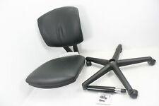 Hon Volt Softhread Armless Leather Computer Office Desk Task Chair Black