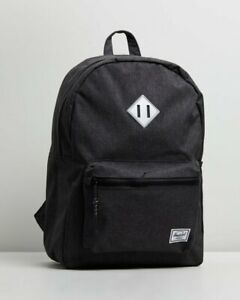 Herschel Supply Co.Heritage Youth Backpack, Black Crosshatch & Silver Reflective