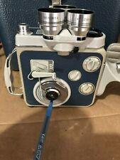 Eumig C3 M Regular 8 Movie Camera - Blue leather panels - vintage display item